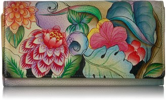 Anuschka Anna By Handpainted Leather Women's Three Fold Wallet Wallet