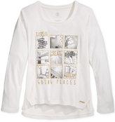Sean John Graphic Long-Sleeve T-Shirt, Big Girls (7-16)