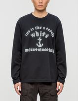 "White Mountaineering Anchor"" Printed Fleece Lining Sweatshirt"