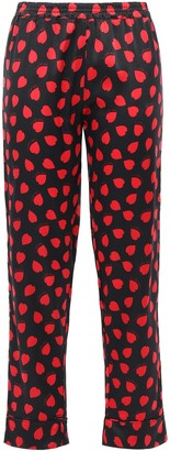 Stella McCartney Tara Tickling Printed Silk-blend Satin Pajama Pants