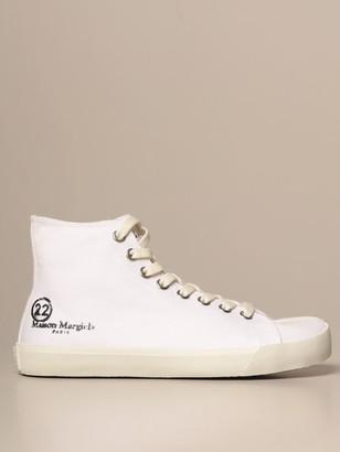 Maison Margiela Tabi Split Sneakers In Canvas