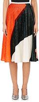 Cédric Charlier Women's Colorblocked Velvet A-Line Skirt