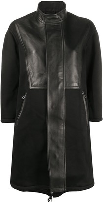 Neil Barrett Panelled Leather Coat