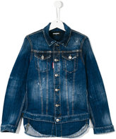DSQUARED2 layered jacket-effect denim shirt