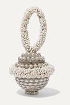 Mae Cassidy - Semi-of-pearl Embellished Silver-tone Clutch
