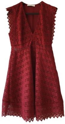 Sandro Spring Summer 2019 Burgundy Cotton Dress for Women