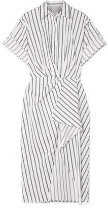 Jason Wu Collection - Striped Cotton-poplin Midi Dress - White
