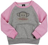 Paul Frank Big Girls' Rhinestone Julius Raglan Fleece Popover Sweatshirt