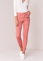 Missy Empire Eve Pink High Waisted Jeans