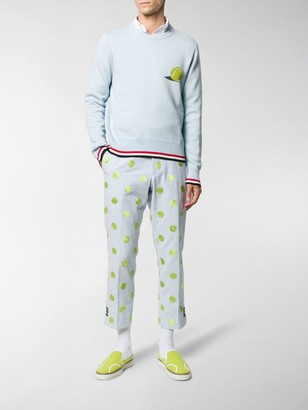 Thom Browne Tennis Ball Embroidery Sweater