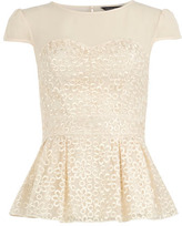 Dorothy Perkins Ivory organza floral top