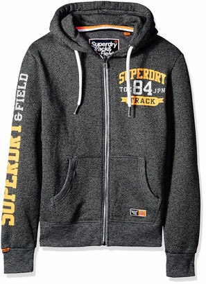Superdry Men's Track & Field Softshell Hybrid Zip Hooded Jacket