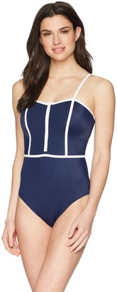Coastal Women's Zipper Front One Piece Swimsuit Swimwear