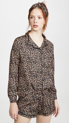 Plush Cheetah PJ Set with Headband