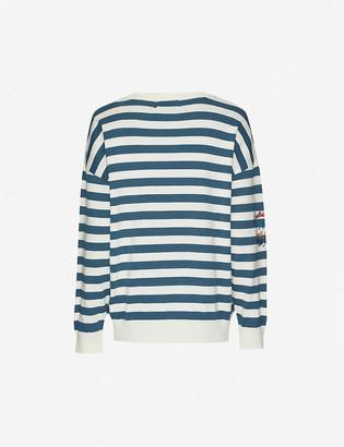BAPE College Applique cotton-jersey jumper