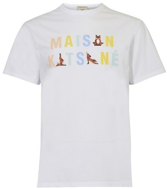 MAISON KITSUNÉ Rainbow t-shirt