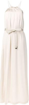 Peserico bow tie maxi dress