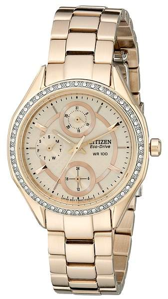 Citizen FD1063-57X Eco-Drive POV 2.0 Rose Gold Tone Swarovski Crystal Watch Watches
