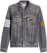Palm Angels Denim Jacket with Patches and Print