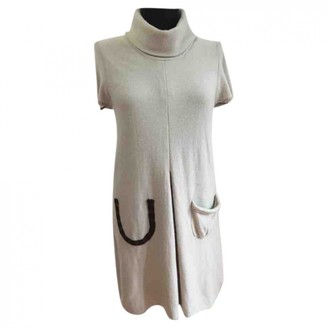 Allude Beige Cashmere Dress for Women