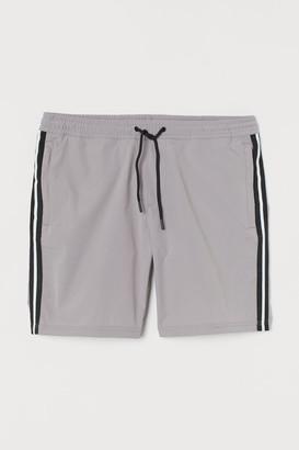 H&M Side-striped Shorts - Gray