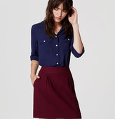 LOFT Embossed Pleated Skirt
