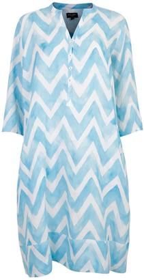 Nologo Chic Zig Zag Linen Tunic Dress