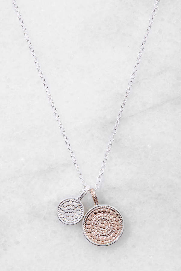 Anna Beck Two Disc Rose Gold Pendant