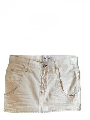 Cycle White Denim - Jeans Skirt for Women