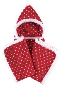 Hudson Baby Plush Hooded Blanket, Polka Dot