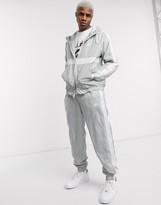 Nike zip-through hoodie woven tracksuit set in grey