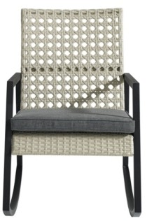 Walker Edison Modern Patio Rattan Rocking Chair