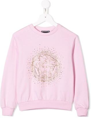 Versace Kids Embellished Logo Jumper