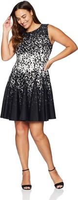 Brinker & Eliza Women's Size Sleeveless Fit and Flare Dress
