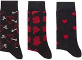 Happy Socks Valentine combed cotton-blend pack of three socks