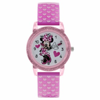 Disney Minnie Mouse Girls Analogue Classic Quartz Watch with Plastic Strap MN9036