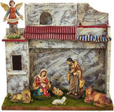 Kurt Adler 5 Musical Nativity Set with 7 Figures and Stable