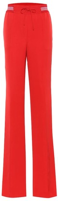 Valentino Silk-blend wide-leg trousers