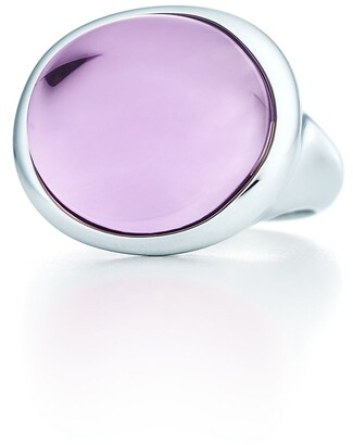 Tiffany & Co. Elsa Peretti Cabochon ring in sterling silver with an amethyst