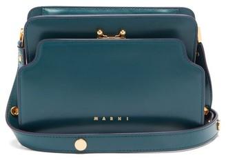 Marni Trunk Reverse Mini Leather Cross-body Bag - Green