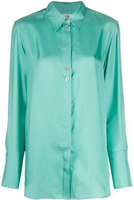 Victoria Victoria Beckham Silk-Twill Loose-Fit Shirt