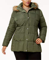Tommy Hilfiger Plus Size Faux-Fur-Trimmed Hooded Puffer Coat