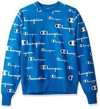 Champion Life Men's Reverse Weave Crew-Print Sweater