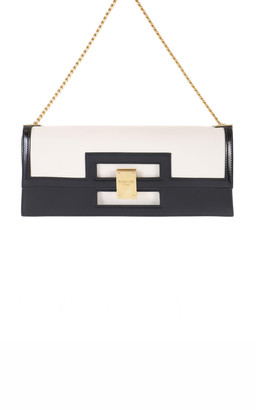 Balmain 1945 Oversize Leather Clutch