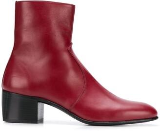 Saint Laurent James 60 leather boots