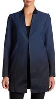Elie Tahari Natalie Ombre Longline Jacket