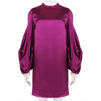 Alexander McQueen Purple Silk Dress for Women