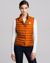 Moncler Quilted Puffer Vest, Orange