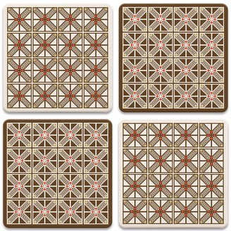 CoasterStone Frank Lloyd Wright Robie Set of 4 Coasters One Size