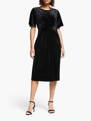 Ilse Jacobsen Hornbæk Talu Velvet Dress, Black